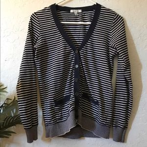 Navy blue stripped cardigan